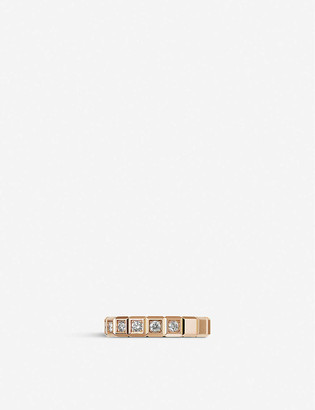 Chopard Ice Cube Pure 18ct rose-gold and diamond ring