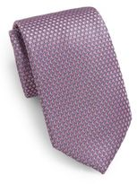Saks Fifth Avenue Neat Circle Silk Tie