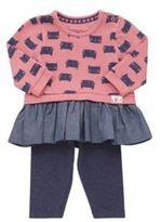 F&F Cat Print Tunic and Leggings Set, Newborn Girl's