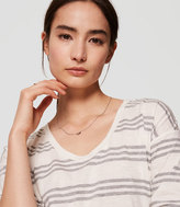 LOFT Striped Drapey Tee