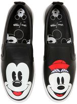 Disney Printed Leather Slip-On Sneakers