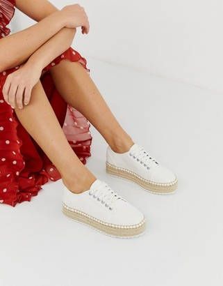 Asos DESIGN Jakie lace up espadrille sneakers
