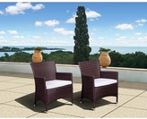 Atlantic Furniture Cape Deluxe 2-Piece Wicker Patio Dining Chairs Set