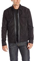 Calvin Klein Jeans Men's Nylon Trucker Jacket with Denim Detailing