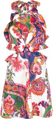 Zimmermann Abstract Pattern Print Dress