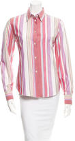 Loro Piana Stripe Button-Up Top
