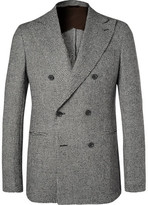 Altea Tim Puppytooth Wool Blazer - Gray