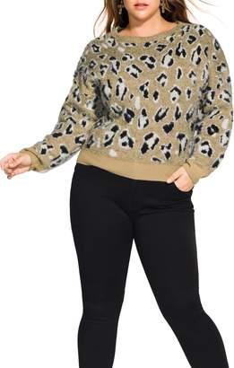 City Chic Blizzard Animal Print Sweater