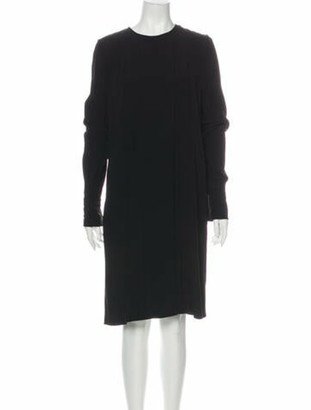 Chloé Crew Neck Knee-Length Dress Black
