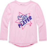 Champion Long-Sleeve Star Player Tee - Preschool Girls 4-6x
