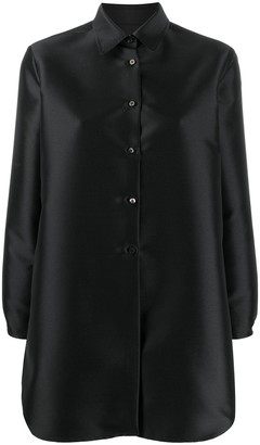Alberto Biani Vent-Back Satin Shirt