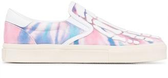 Amiri Skeletal tie-dye slip-on sneakers