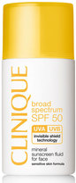 Clinique Mineral Sunscreen Fluid for Face Broad Spectrum SPF 50, 1.0 oz.