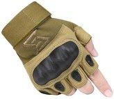 nanjing yebao FREE SOLDIER Outdoor Men Military Hard Knuckle Half Finger Glove Tactical Armor Gloves