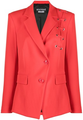 Boutique Moschino Lace-Up Detail Blazer Jacket