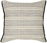 Toyine Sellers Fine-Striped Leather Pillow-IVORY