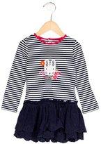 Catimini Girls' Striped Long Sleeve Dress