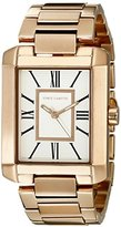 Vince Camuto Women's Quartz Watch with White Dial Analogue Display and Rose Gold Stainless Steel Bracelet VC-5228SVRG
