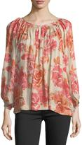 The Great The Dreamer Floral-Print Silk Top