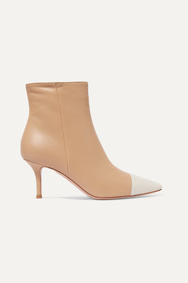 Gianvito Rossi 70 Two-tone Leather Ankle Boots - Neutral
