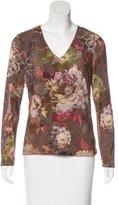 Etro Floral Print V-Neck T-Shirt