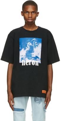 Heron Preston Black and Blue Herons T-Shirt