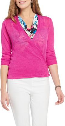 Nic+Zoe 4-Way Convertible Three Quarter Sleeve Cardigan