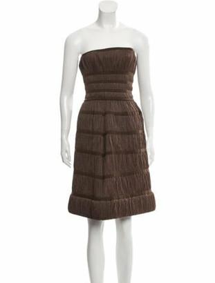Alaia Strapless Mini Dress Brown