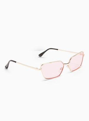 Topman JEEPERS PEEPERS Rectangle Sunglasses in Pink*