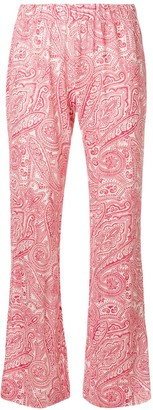 Le Tricot Perugia Paisley-Print Flared Trousers
