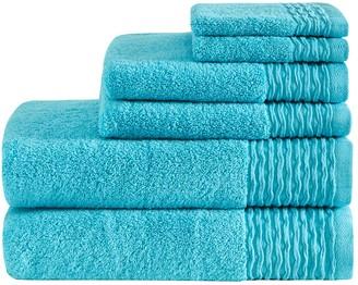 Madison Home USA Aer Jacquard Cotton 6-piece Bath Towel Set