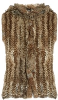 Yves Salomon Hooded rabbit-fur gilet