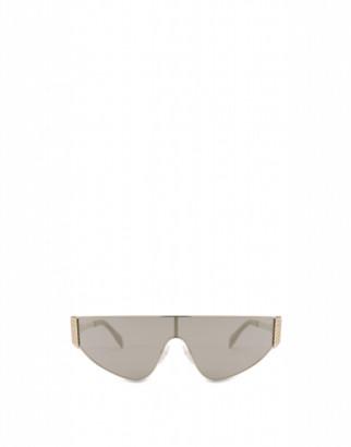 Moschino Flat-top Bijou Chain Sun Mask Woman Gold Size Single Size