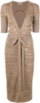 Nina Ricci embellished tie waist dress