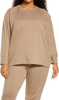 Eileen Fisher Organic Stretch Cotton Sweatshirt