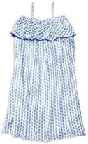 Ralph Lauren Girls' Paisley Ruffle Dress - Sizes 7-16