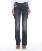 Vigoss Dark Wash Stud-Flap Pocket New York Bootcut Jeans