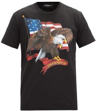 DSQUARED2 Eagle-print Cotton-jersey T-shirt - Black