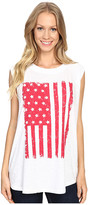 Allen Allen Raglan Sleeveless Tee w/ White Flag