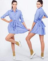 Poly-Cotton Shirt Dress