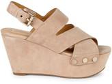 Marc Fisher Bianka Suede Platform Wedge Sandals