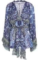 Camilla Embellished Printed Silk Crepe De Chine Blouse