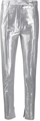Ann Demeulemeester Metallic Effect Slim-Fit Trousers