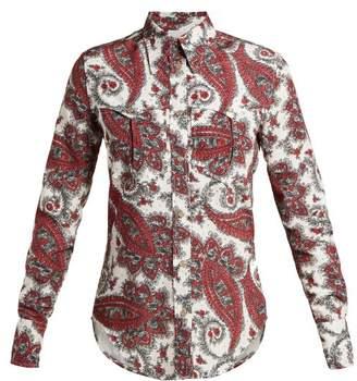 Isabel Marant Tania Paisley-print Shirt - Womens - Red Multi