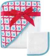 Baby Vision Hudson Baby® Hooded Towel and Washcloth Set in Pink