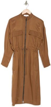 Reiss Sylvie Zip Front Utility Dress