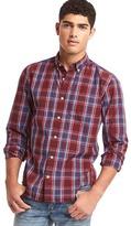 Gap True wash large plaid standard fit shirt