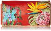 Anuschka ANCHKA HANDPAINTED LEATHER ACCORDION FLAP WALLET, Wallet,One Size