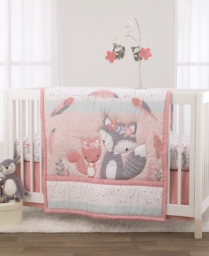 NoJo Desert Flower Fox and Feathers 3-Piece Crib Bedding Set Bedding