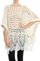 Ryu Lace Poncho Sweater